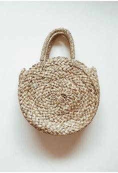 2141a21b86 ASHLEY SUMMER CO brown Morocco Large Round Straw Bag Beach Basket Bag  CA33FAC95D9DBDGS 1