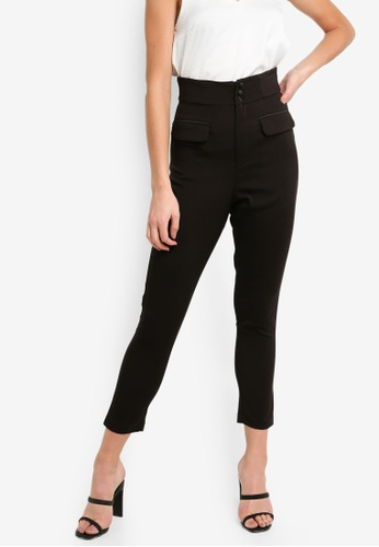 Tailored Waisted High Button Satin Trousers ZuOXkPiT