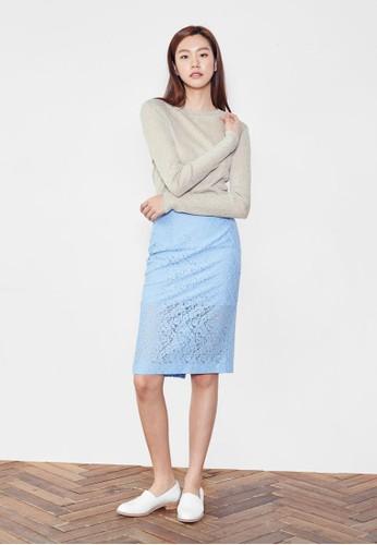 蕾絲及膝短裙, 服esprit旗艦店飾, 裙子