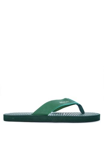 BENCH green Rubber Slippers 463B8SHFD1D3E6GS_1