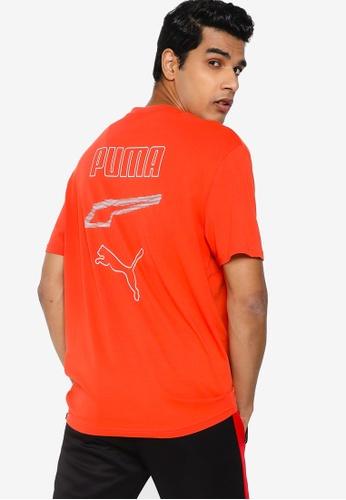 Puma orange Rebel Graphic Men's Tee 197DEAA674AD4EGS_1