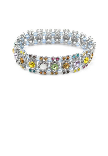 Glamorousky multi Elegant Bangle with Multi-color Austrian Element Crystal 2EC03AC3796F7CGS_1