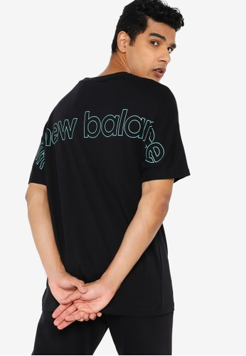 New Balance black Sport Style Optiks Shortsleeve Oversized Tee 04FE8AAFF5BD36GS_1
