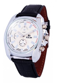 Valia Nico Leather Strap Watch 8166
