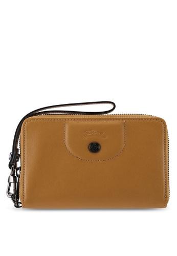 Longchamp brown Le Pliage Cuir Wallet E2035AC47D75B3GS_1