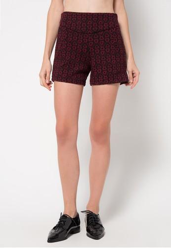 Raspberry black Dianaprinted Pants RA572AA57JBIID_1