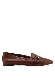 66b56bdfd49 ALDO brown Qadovia Pointed Hazel Loafers 4D2F7SH6057BA6GS 1
