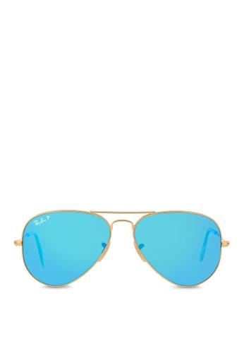 Ray-Ban yellow Aviator Large Metal RB3025 Polarized Sunglasses  RA370GL36SALSG 1 61c0300818