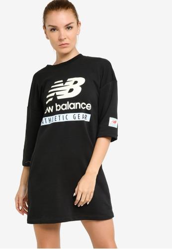 New Balance black NB Essentials Field Day Crew Fleece Dress 0EA3EAA2062547GS_1
