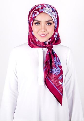 FATIMÉ white and pink and purple Twill Silk Yam (Maroon) CA145AA0B78159GS_1