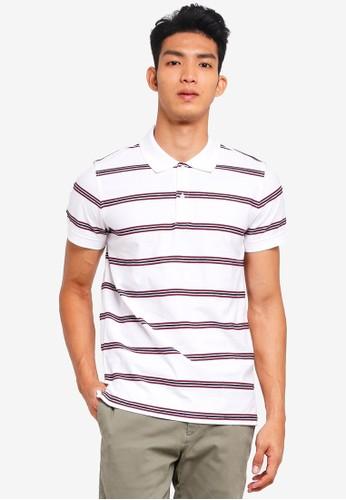 Brooks Brothers white Red Fleece Rope Stripe Polo Shirt 84E41AA12DDBECGS_1