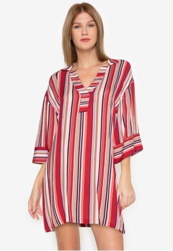 ZALORA BASICS multi Striped Shirt Dress 54851AA6CF883AGS_1