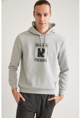 DeFacto grey Text-Motif Sweatshirt 4A324AAF48133CGS_1