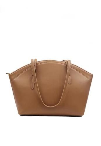Twenty Eight Shoes brown VANSA Simple Leather Tote Bag VBW-Tb9943 0F184ACFDB6A21GS_1