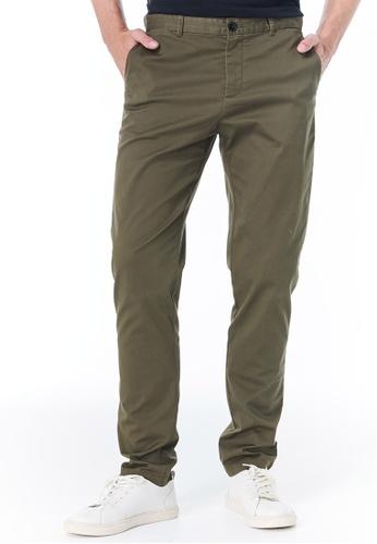 Sisley green Slim Fit Chinos 60D81AAF7AF70CGS_1