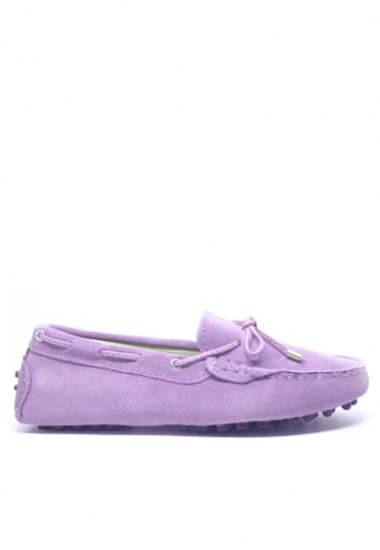 Twenty Eight Shoes purple Ladies Suede Loafers Shoes M99 8CB67SHCFFC22FGS_1