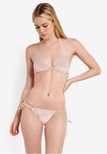 PINK N' PROPER pink Opulence Venus Velvet Bikini Set 24BF1USF1BD391GS_1