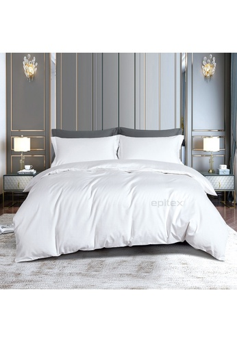 Epitex white Epitex CD2537-1 1000TC Supima Black Cotton Collection Dobby (Fitted Sheet, w/o quilt cover). 59E23HL2F999B2GS_1