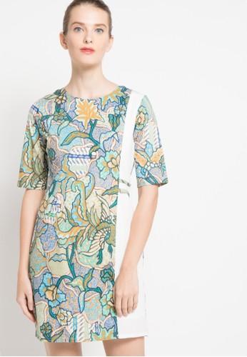 Rianty Batik green Dress Klaudia RI993AA32YJJID_1