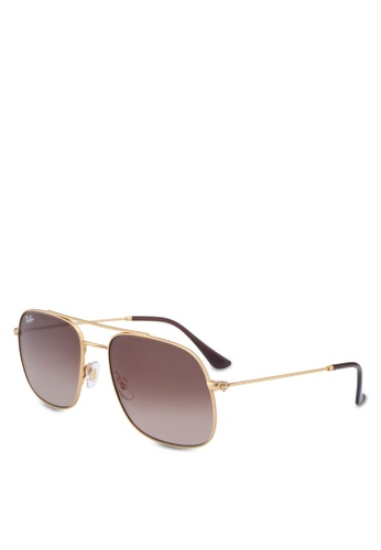 Ray-Ban gold Ray-Ban RB3595 Sunglasses 92ED3GLBD2269EGS_1