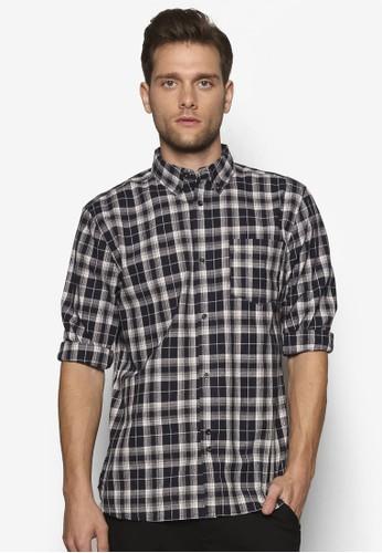 格紋長袖襯衫, zalora 衣服評價服飾, 襯衫