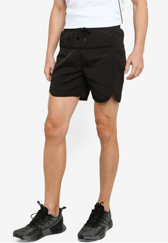 ZALORA ACTIVE black Contrast Binding Running Shorts DA44CAACCD03EFGS_1