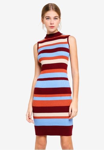 5379492593a Buy Dressing Paula Stripe Ribbed Sweater Dress