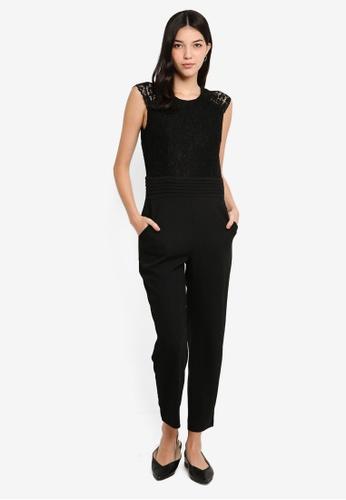 ESPRIT black Woven Overall Regular Jumpsuit BDEE6AAEFE340EGS_1