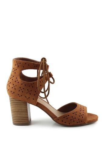 London Rag 米褐色 棕褐色腳踝裹涼鞋 9B1D7SH4A79721GS_1
