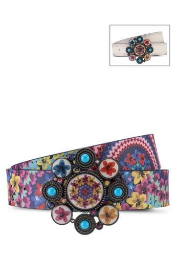 Desigual multi Reversible Floral Printed Belt F3182AC3F581FAGS_1