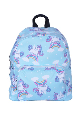 Adkidz blue Adkidz unicorn printed backpack 42C96KCA7D5D95GS_1