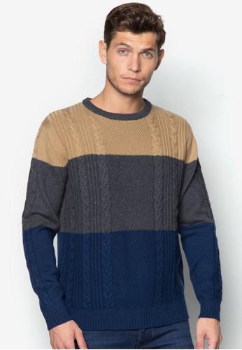 三色針織長袖衫, 服飾zalora 男鞋 評價, 運動衫