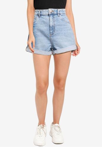 Cotton On blue High Rise Classic Stretch Denim Shorts 07EBCAA940863EGS_1