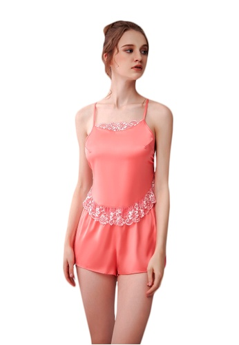 LYCKA pink LCB2141-Lady Casual Pajamas Two Pieces Set-Pink FC87EUSCA03A6CGS_1