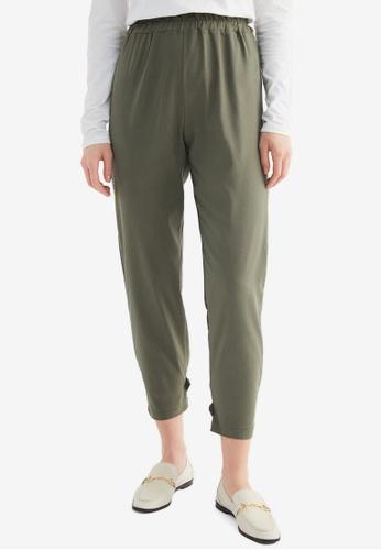 Trendyol 綠色 Crop Pants D0463AA87AC144GS_1