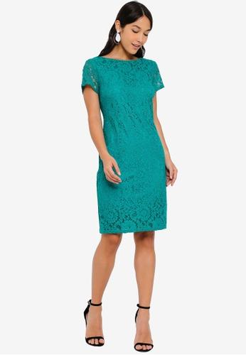 5d3036678c Buy Dorothy Perkins Green  Larissa  Lace Shift Dress