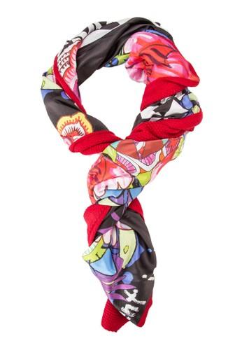 印花針織拼esprit 品牌接圍巾, 飾品配件, 飾品配件