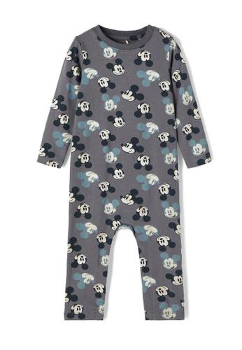 NAME IT grey Mickey Alinas Long Sleeves Bodysuit 555A3KA098D9A6GS_1