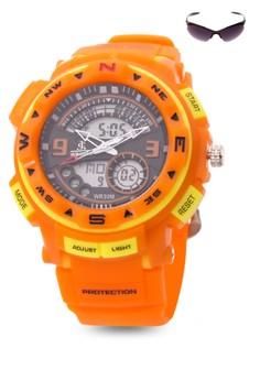 Chronograph Watch With Free Sunglasses JC-H1213-MC-01