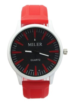 Miler Men's Silicone Strap Watch