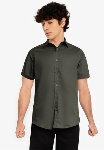 Brave Soul green Short Sleeve Shirt 1A011AAEDC6158GS_1