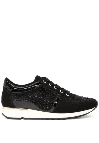 RAG & CO black Black Sparkle Trainers RCSH1724 40DADSHA3BEE78GS_1