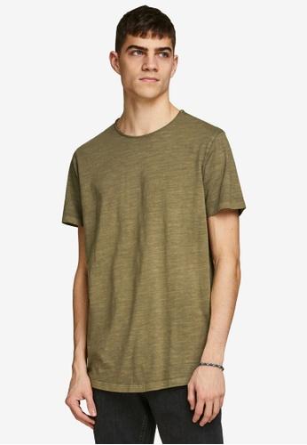 Jack & Jones green Asher O-Neck Short Sleeves Tee EBB2FAA5D7091CGS_1