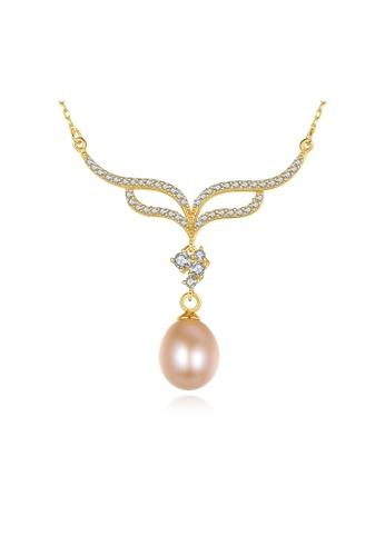 SUNRAIS gold Premium color stone golden flower necklace FF234AC69B0ADFGS_1