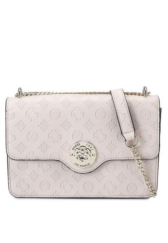 Guess pink Dayane Convertible Crossbody Flap Bag D4AD8AC43B4205GS_1