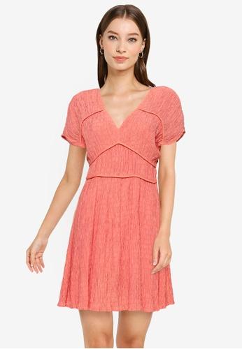 URBAN REVIVO orange Smocked Dress 77FBFAA72EDB53GS_1