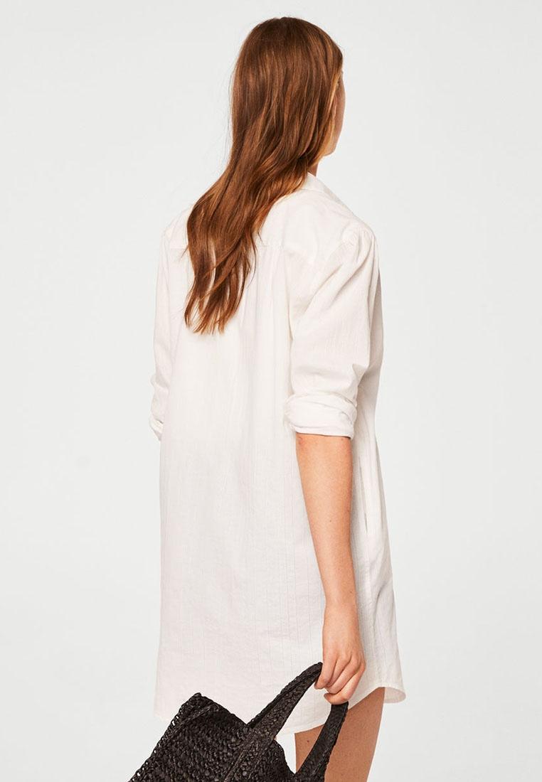 Mango White Cotton Natural Shirt Striped O0OqprA