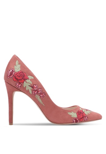 ZALORA pink Embroidered Heels 6DA85ZZB22759CGS_1