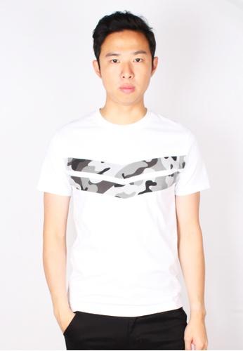 Moley white Camo Chevron T-Shirt 0DD76AA47DDE56GS_1