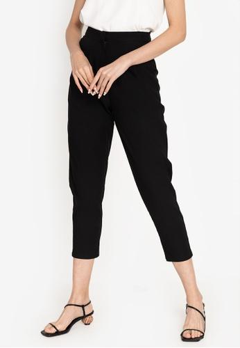 ZALORA WORK black Pleated Tapered Pants 07D3FAA5700E83GS_1